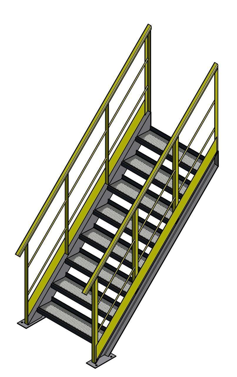 лестничные площадки металлические купить